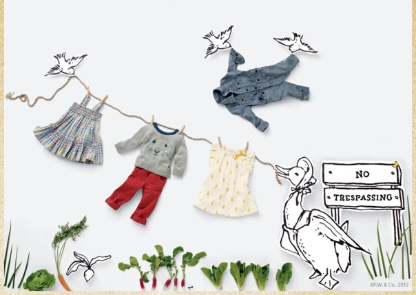 Peter Rabbit line at the Gap