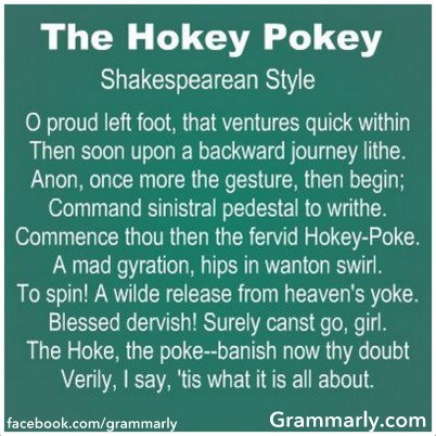 Hokey Pokey, Shakespearean style