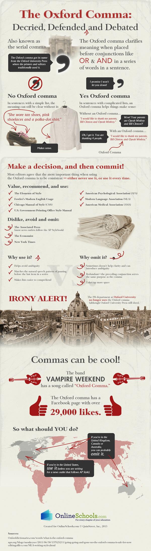 Oxford comma infographic