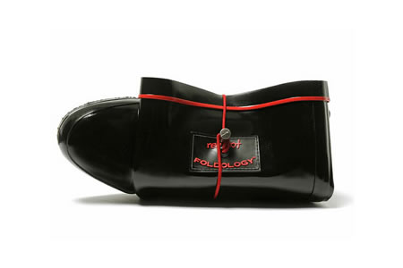 RedFoot black patent rain boots