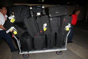Make no mistake. Our luggage was only a fraction of what Victoria Beckham traveled with last month.
