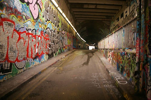 The graffiti tunnel on Leake Street is included in Time Out's secret London map.