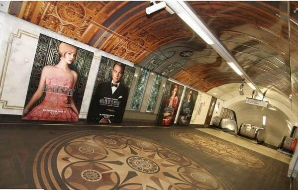 Great Gatsby Oxford Circus Tube Station