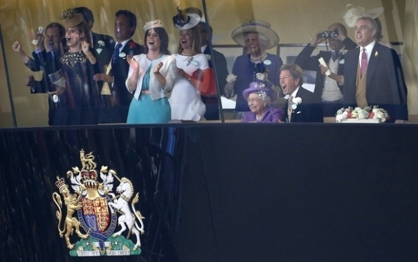 Royal Family watching Royal Ascot