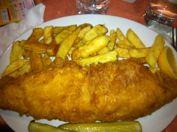 Fish and chips at Masters Super Fish