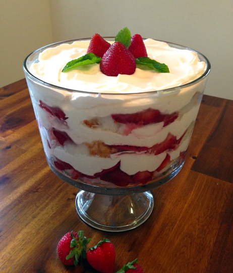 Strawberry Trifle. Photo credit: Susan Jones.