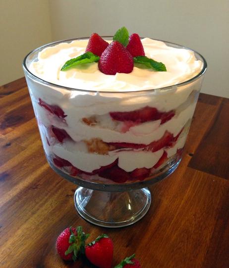 Strawberry Trifle. Photo credit: Susan Jones.