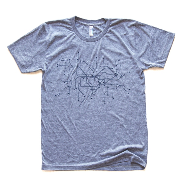 London T-Shirt Gray