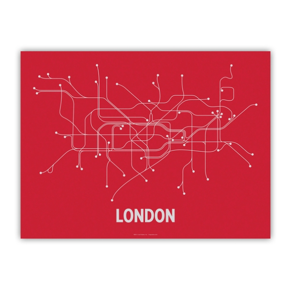 London Screenprint 24x18