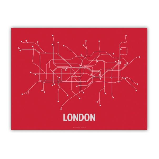 London Screenprint 24x18
