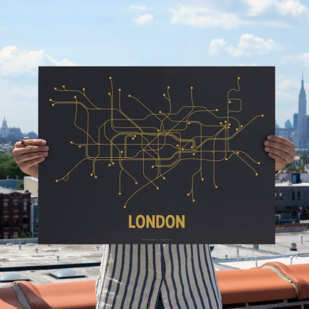 London Screenprint Gray