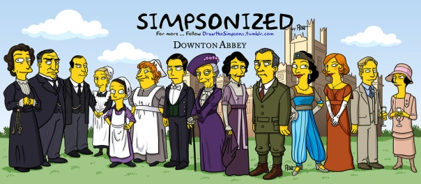 Simpsonized Downton Abbey