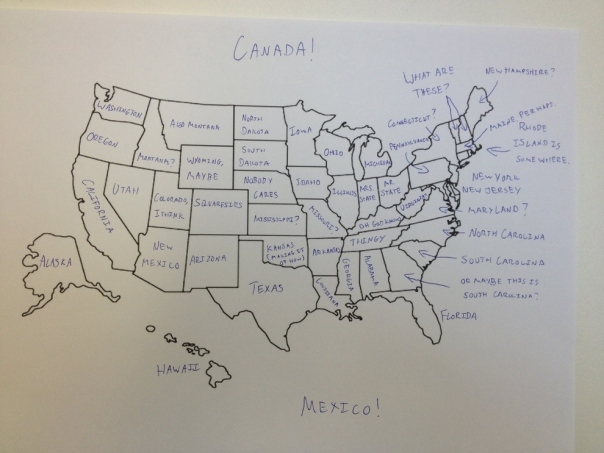 Brits label U.S. map