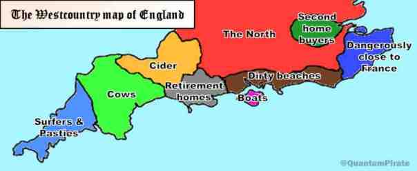 West Country Map