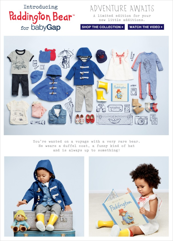 Baby Gap Paddington Bear collection