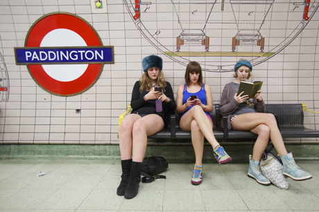 'No Pants Subway Ride Day', London, Britain - 12 Jan 2014
