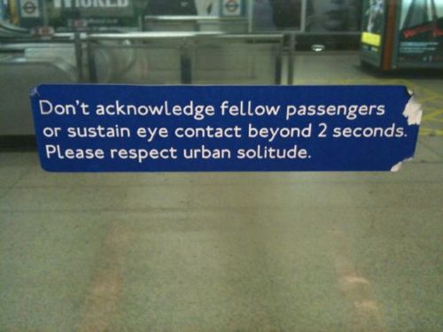 Fake London Underground sign