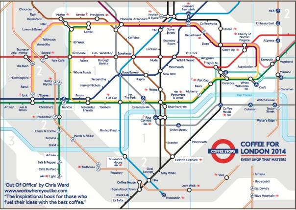 Coffee for London Tube Map