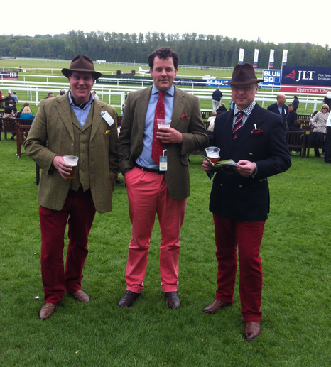 These bloody good blokes enjoying a day at the races