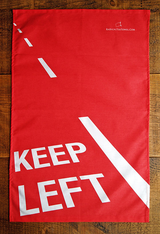 Keep Left Tea Towel