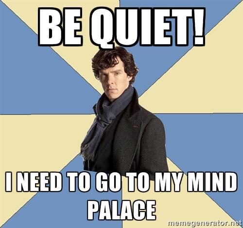 Be Quiet Sherlock sign