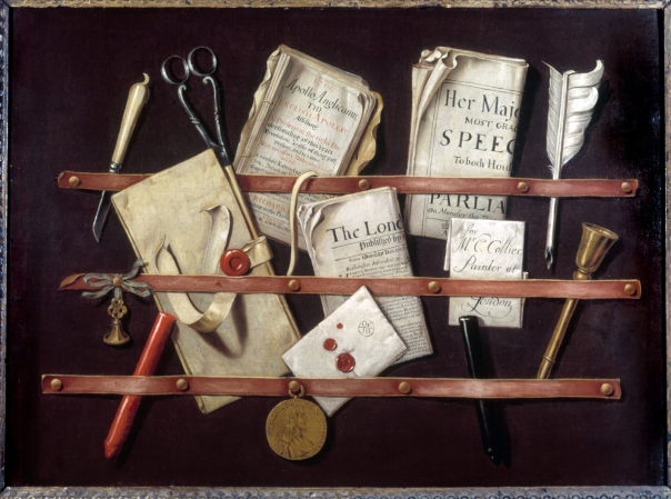 Edward Collier, Trompe l'oeil with Writing Materials