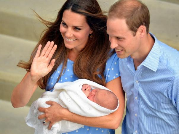 Kate, Will and Baby George