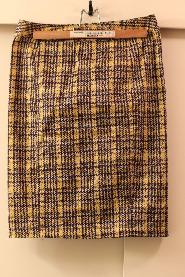 41Hawthorn Emilia Plaid Print Pencil Skirt