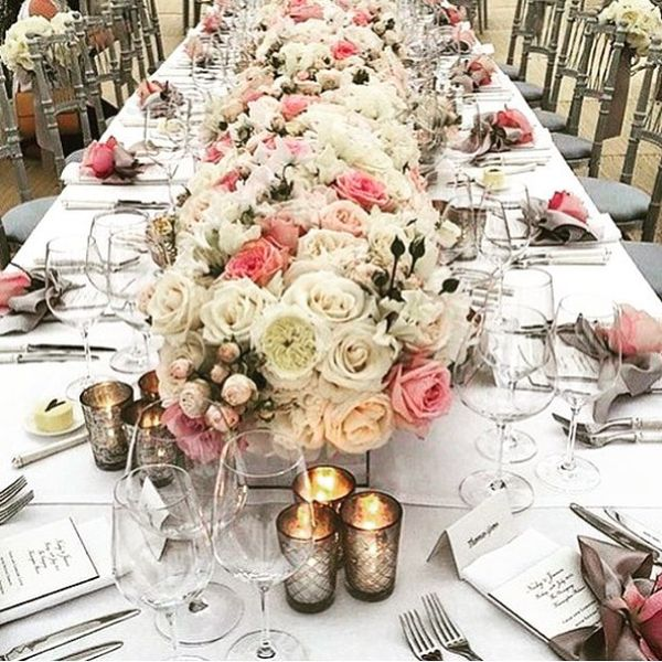 Nicky Hilton's wedding table