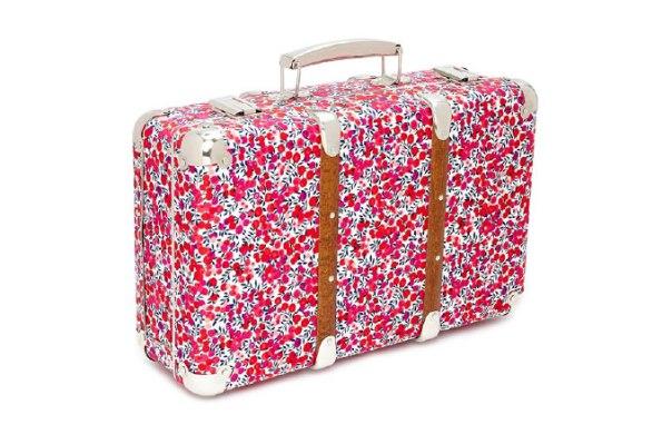 Floral print suitcase