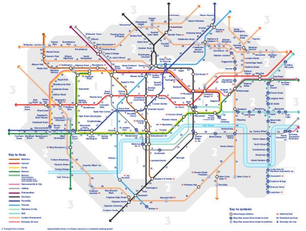 London Tube walking map