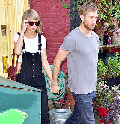 Taylor Swift and Calvin Harris eat at Spotted Pig