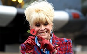 Barbara Windsor with poppy